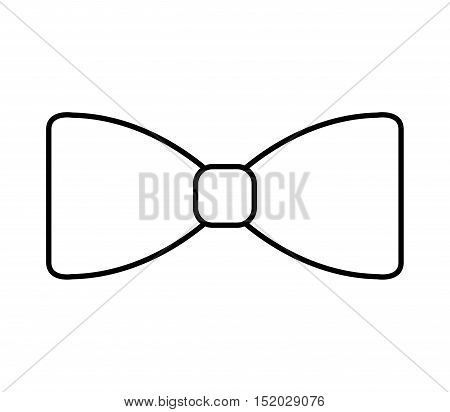 elegant cute bowtie icon vector illustration design