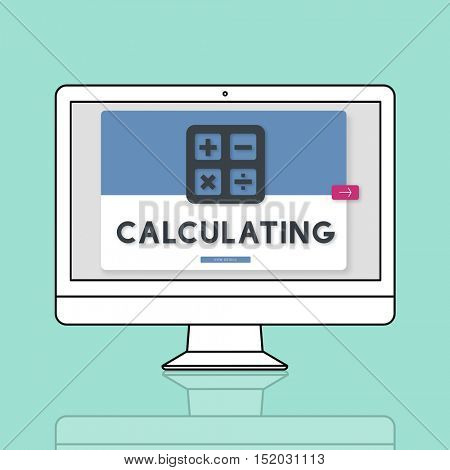 Calculating Accounting Finance Budget Concept