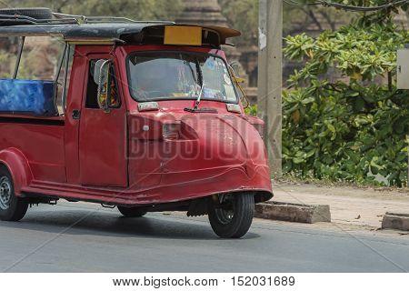Tuk tuk for passenger car,travel in Thailand.