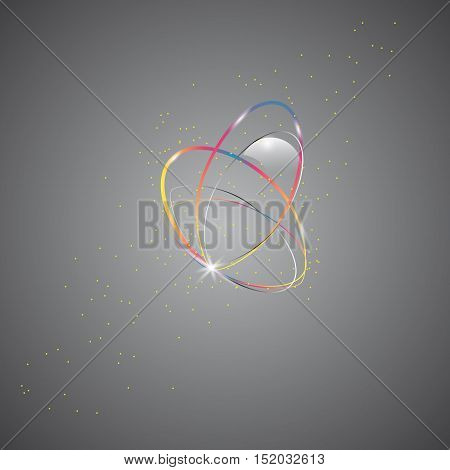 Smooth Light Lines On  Background Vector Illustration. Glowing Translucent Element For Special Effec