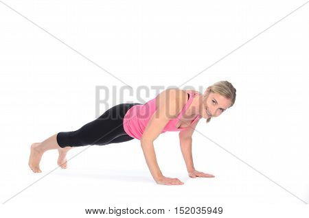 Healthy Fit Woman Working Out