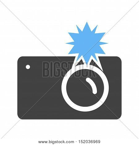 Camera, photo, party icon vector image. Can also be used for birthday. Suitable for mobile apps, web apps and print media.