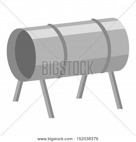 Playground tunnel icon in monochrome style isolated on white background. Play garden symbol vector illustration.