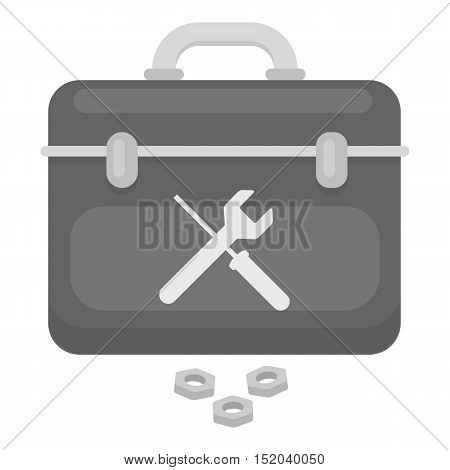 Toolbox icon in monochrome style isolated on white background. Plumbing symbol vector illustration.