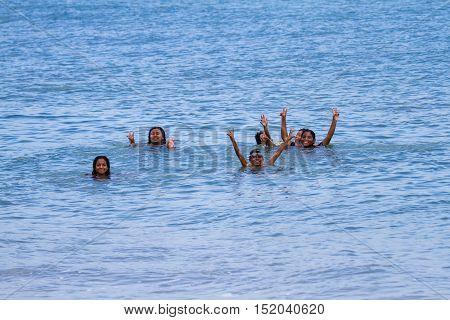 Happy Children In Panama