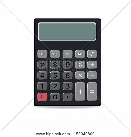Calculator icon in flat style. electronic calculator isolated on white background. Vector illustration.