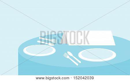 sign on a restaurant table, Illustration vector