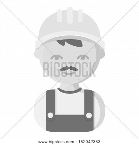 Builder monochrome icon. Illustration for web and mobile.