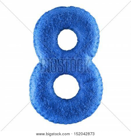 Number 8-eight-from Blue Felt