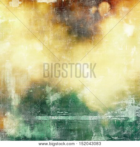 Ancient texture or damaged old style background with vintage grungy design elements and different color patterns: yellow (beige); brown; green; red (orange); white