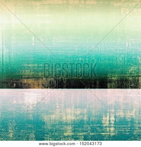 Old school elements on textured grunge background. With different color patterns: yellow (beige); gray; green; blue; white; cyan
