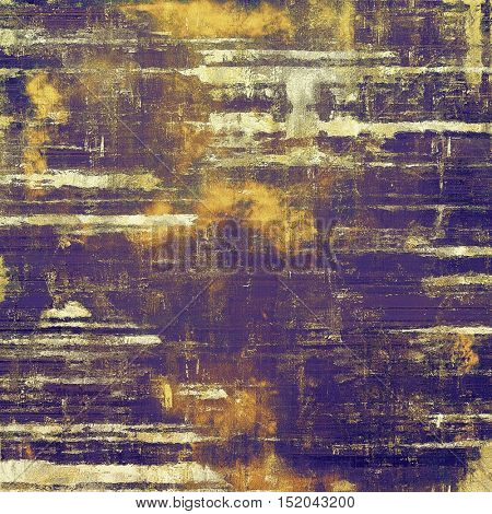 Vintage design background - Grungy style ancient texture with different color patterns: yellow (beige); brown; blue; purple (violet)