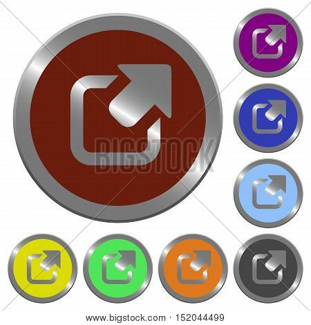 Set of color glossy coin-like export buttons