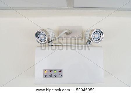 AC emergency light Auto emergency lighting on wall.