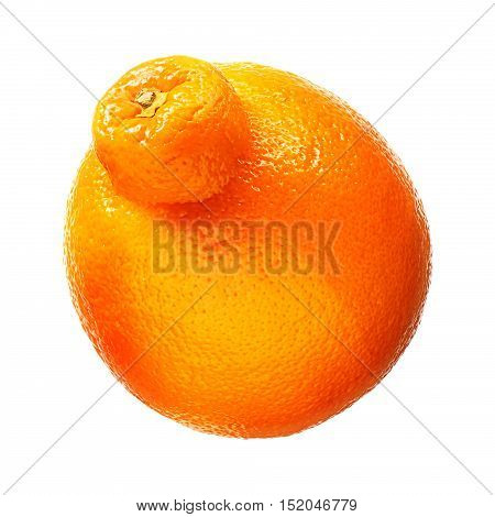 Mandarin, tangerine citrus fruit isolated on white background. With clipping path.