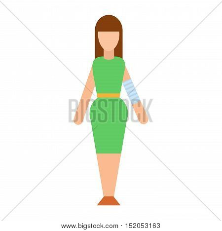 Trauma accident fracture human body safety vector people silhouette. Trauma fracture cartoon flat style people illustration isolated on white background