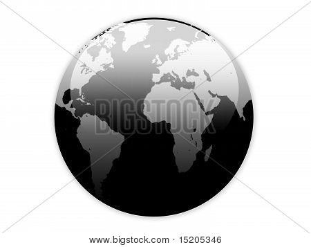 Creative Glossy Globe