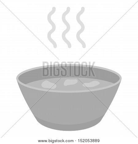 Hot soup icon monochrome. Single sick icon from the big ill, disease monochrome.
