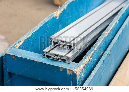 Aluminum Structural Parts In Wooden Box