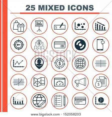 Set Of 25 Universal Editable Icons For Human Resources, Project Management And Business Management T