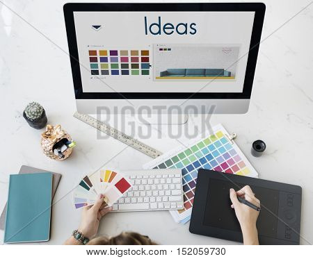 Ideas Be Creative Inspiration Design Logo Concept