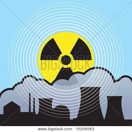 Nuclear sunrise with radiation fallout