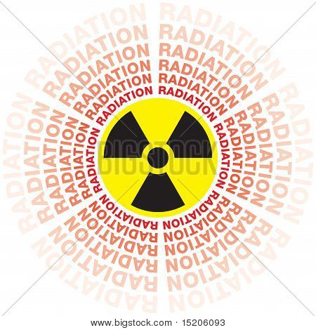 Fallout radioativo se espalhando