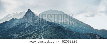 Beautiful mountain peak Zakan, Karachay-Cherkessia region, Russia