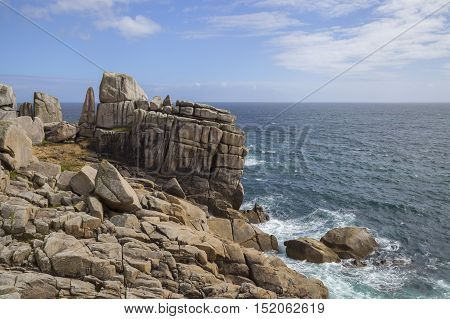 Unusual rock formations, Peninnis Head, St Mary's, Isles of Scilly, England