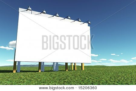 An illustration of a nice white advertising wall