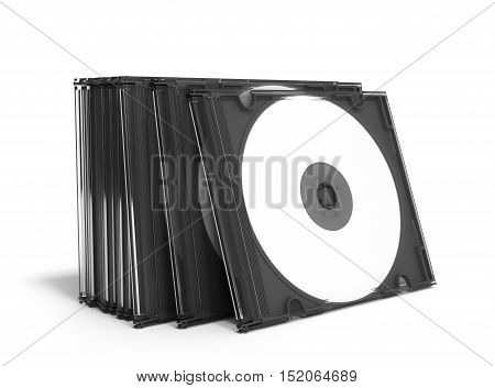 3D Cd Covers Open On White Background
