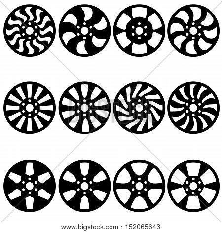 The Car alloy wheels a vector illustration