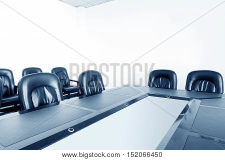 Table chairs in the indoor meeting room