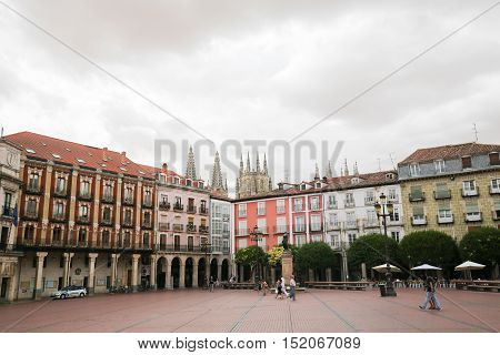 Burgos Plaza Mayor And Cathedral