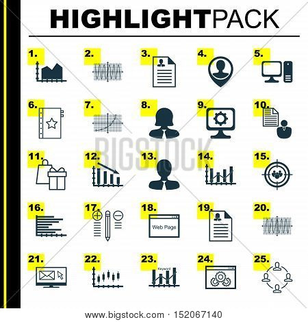 Set Of 25 Universal Editable Icons For Marketing, Advertising And Human Resources Topics. Includes I