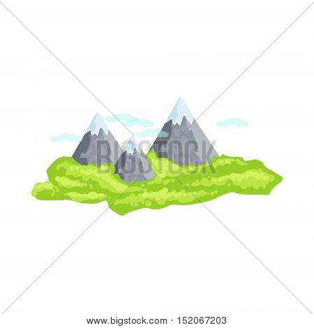 Mountain Peaks As A National Canadian Culture Symbol. Isolated Illustration Representing Canada Famous Signature On White Background
