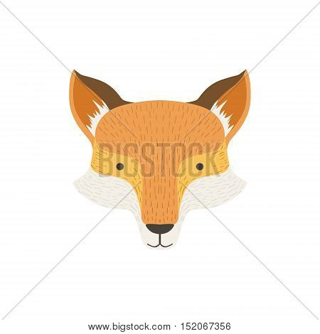 Fox Head As A National Canadian Culture Symbol. Isolated Illustration Representing Canada Famous Signature On White Background