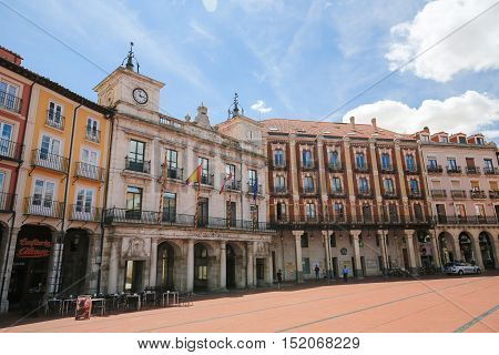 Burgos Casa Consistorial At The Plaza Mayor