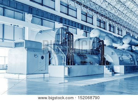 Thermal power plants large-scale thermal power machine empty shop.