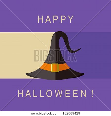 Halloween hat icon / Vector image of witch hat for halloween design.