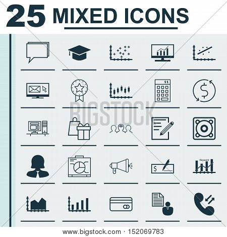 Set Of 25 Universal Editable Icons For Marketing, Airport And Computer Hardware Topics. Includes Ico
