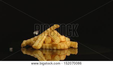 French fries closeup shot