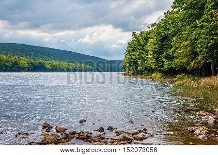 Scenic Mauch Chunk Lake in Jim Thorpe Pennsylvania.