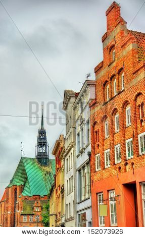 Buildings in the old town of Lubeck - UNESCO World Heritage Site in Germany