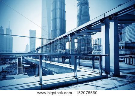 Shanghai's high-rise buildings an international financial center.