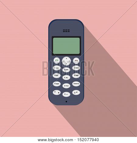cellular phone vector flat buttons mobile personal