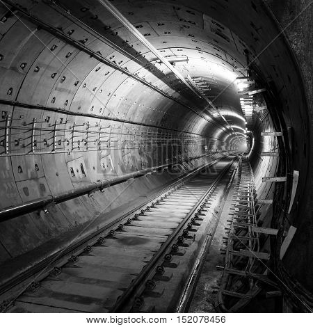 Subway tunnels are still in the process of construction