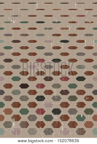 Abstract retro background with geometric forms. Vector Illustration