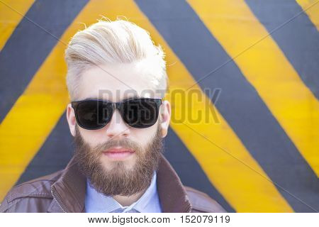 Hipster Man In Sunglasses