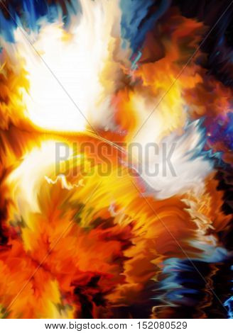 Color cosmic space, multicolor background. Painting effect